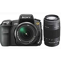 Sony A200 + DT 18-70 mm + 75-300 mm