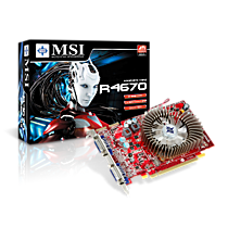 MSI R4670-2D512/D3, 512MB DDR3, fan, PCIe