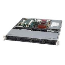 SC813MT-410C 1U 4x SATA hot-swap CD,FD, 410W 48V DC