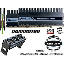 CORSAIR 4GB=2x2GB DDR2 PC8500 1066MHz 5-5-5-15 (TWIN2X XMS2 Dominator kit 2ks 2048MB s akt. chladičem)
