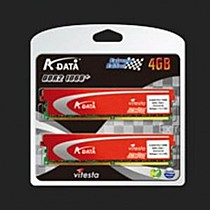 ADATA 4GB=2x2GB DDR3 1333MHz +Series PC3-10666 7-7-7-20 (kit 2ks 2048MB s chladičem)