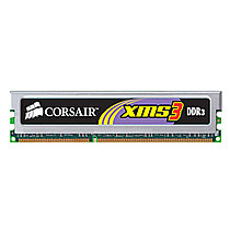 CORSAIR 2GB=2x1GB DDR3 1333MHz XMS3 PC3-10666 9-9-9-24 (kit 2ks 1024MB s chladičem)