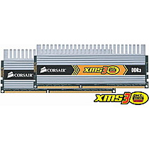 CORSAIR 2GB=2x1GB DDR3 1600MHz XMS3 DHX PC3-12800 9-9-9-24 (kit 2ks 1024MB s chladičem DHX)