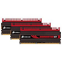 CORSAIR 6GB=3x2GB DDR3 1866MHz DominatorGT PC3-15000 7-8-7-20 (kit 3ks 2048MB s chladičem Dominator+Fan, vhodné pro Core i7 Vdimm=1.65V a X58)