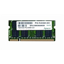 Apacer AM1 1GB SO-DIMM DDR2 CL5.0 64x8 PC5300 667MHz (by Apacer 1024MB)