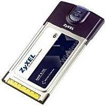 ZyXEL ZyAIR B-122 802.11b PCMCIA LAN adapter, 27Mbps with B-500