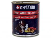 ONTARIO konzerva Beef, Potatos, Sunflower Oil 800g