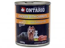 ONTARIO konzerva Chicken, Carrots, Salmon Oil 800g
