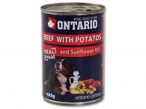 ONTARIO konzerva Beef, Potatos, Sunflower Oil 400g