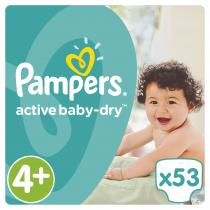 Pampers Active Baby VVP Maxi Plus 9-16kg 53 ks