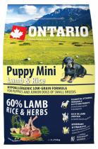 Ontario Puppy Mini Lamb Rice 2,25kg