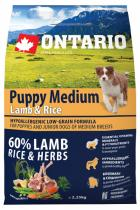 Ontario Puppy Medium Lamb Rice 2,25kg