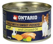 Ontario Mini Calf, Sweetpotato, Dandelion and linseed oil 200g