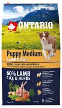 Ontario Puppy Medium Lamb Rice 6,5kg