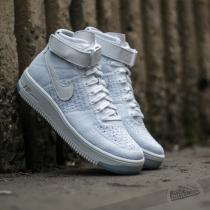 Nike W Air Force 1 Flyknit White/ White-Pure Platinum