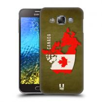 Pouzdro Head Case Country Flag Maps pro Samsung Galaxy E7