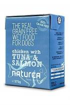 Naturea GF Dog Chicken Tuna Salmon 375g