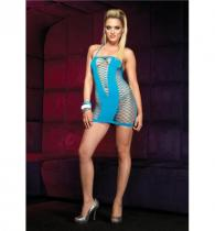 Leg Avenue Šaty Halter Mini Dress turqouise