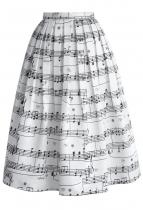 CHICWISH Midi Dance With Music Notes