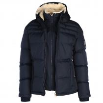 SoulCal 2 Zip Bubble Jacket Navy