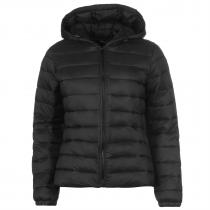JDY Mash Hooded Quilted Jacket Black