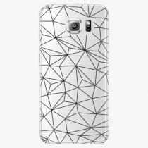 Samsung - Abstract Triangles 03 - black - Galaxy S6 Edge