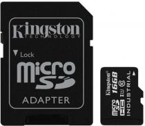 Kingston Industrial Micro SDHC 16GB Class 10 UHS-I + SD (SDCIT/16GB)