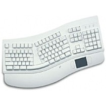 Chicony KBP-7903 ergonomic s Touch padem a podložkou, PS2