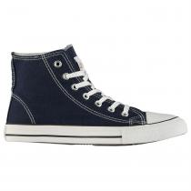 Lee Cooper Lee Cooper Canvas Hi Top Shoes Mens, Navy, 43