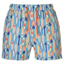 Pierre Cardin Pierre Cardin AOP Swim Shorts Mens, Lt Blue Surf, S