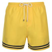 Pierre Cardin Pierre Cardin Stripe Swim Shorts Mens, Yellow, M