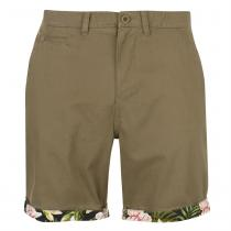 Pierre Cardin Pierre Cardin AOP Turn Up Shorts Mens, Khaki, XL