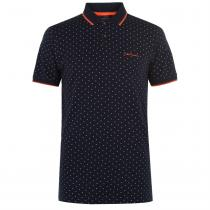 Pierre Cardin Pierre Cardin All Over Print Polo Mens, Navy, S