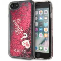Guess Kryt na mobil Guess New Glitter Hearts pro Apple iPhone 8 (GUHCI8GLHFLRA) růžový