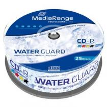 Mediarange MEDIARANGE CD-R 700MB 52x Waterguard Photo Inkjet Fullprintable spindl 25pck/bal