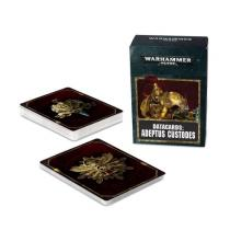 Games Workshop Warhammer 40000: Datacards Adeptus Custodes