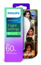 PHILIPS Lighting LED Scene Switch 8-5-2W/60W E27 WW A60 D FR