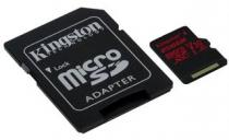 KINGSTON micro SDXC 256GB Canvas React micro SDXC UHS-I V30 (čtení/zápis: 100/80MB/s) + SD adaptér