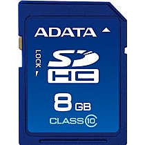 A-DATA SDHC Secure Digital 8GB Class 10