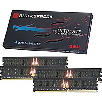 GEIL RAM 4GB(4x1GB) PC2 6400 800Mhz Black Dragon (4-4-4-12)