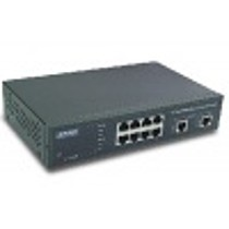 Planet WGSD-1022 Switch, 8+2-port, 10/100/1000MB