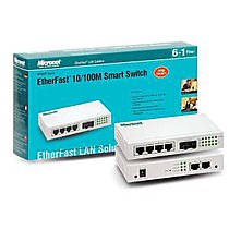 Micronet Smart Switch SP607FA , 6x10 / 100, 1xST