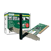 Digitus WLAN PCI adapter,54Mbps with external antenna