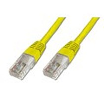 Digitus Patch Cable, UTP, CAT 5e, AWG 26 / 7, žlutý 7m, 5ks
